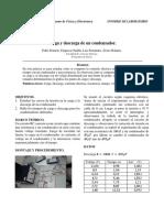 Laboratorio Fisica 2 Condensador Carga y Descarga