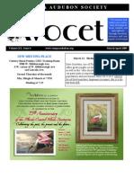 Mar-Apr 2009 Avocet Newsletter Tampa Audubon Society