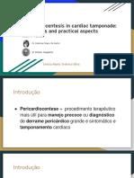Pericardiocentese em tamponamento cardíaco - indicações e guia prático