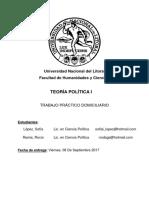 Trabajo Práctico de Teoría Política I
