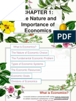 CHAPTER 1. Nature and Importance of Economics