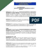Modelo de Estatuto de Asociacion Deportiva
