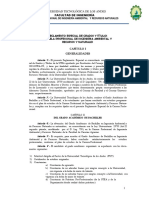 Reglamento Especial de Grados y Títulos Ingeniería Ambiental