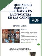 Maquinaria o Equipos Empleados en La Industria de Las Carnes