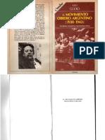 Godio, Julio - El Movimiento Obrero Argentino 1930-1943, Legasa, 1989