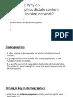 demographics and programing part 3