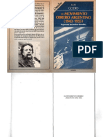 Godio, Julio - El Movimiento Obrero Argentino 1943-1955, Legasa, 1990