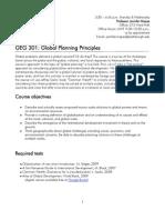 Global Planning Principles