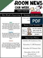 weekly newsletter  powerpoint  9-13