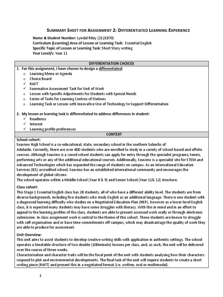 what is essay expository checklist