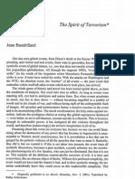 Baudrillard - The Spirit of Terrorism