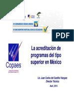 La Acreditacion Programas Educacion Superior Mexico