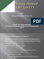 Konsep Dan Prinsip Patient Safety 2015.ppt