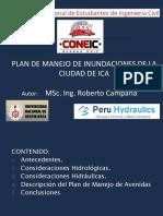 Plan de Manejo de Inundaciones de La Ciudad de Ica - Ing.roberto Campaña Toro