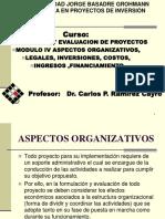 Modulo IV-Aspectos Organizativos, Legales,Inversiones Costo