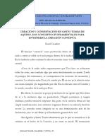 04. Creación y Conservación en Santo Tomás. Casadesús.