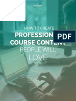 How to Create Professional Course Content People Will Love - Teachable