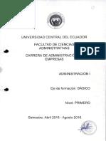 ADMINISTRACIÓN I1