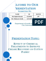 Effect of Chemical Treatments to Improve Crease Recovery on Cotton Fabric