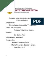 Seminario Prótesis Total Zona Neutra