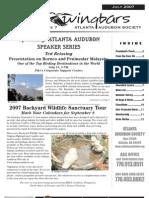 July 2007 Wingbars Newsletter Atlanta Audubon Society