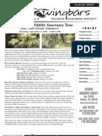 August 2007 Wingbars Newsletter Atlanta Audubon Society