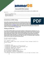 Hammerdb HTML