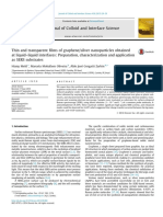 2015 Thin and Transparent Films of Graphene Silver Nanoparticles