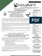 September 2008 Wingbars Newsletter Atlanta Audubon Society