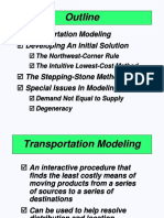 Outline Transportation Modeling
