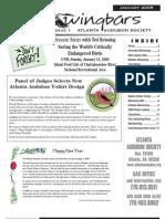 January 2009 Wingbars Newsletter Atlanta Audubon Society