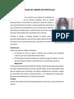 Métodos de Análisis de Tamaño de Partículas