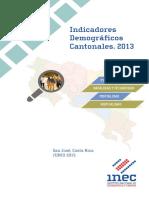 Indicadores Demograficos Cantonales 2013