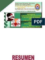 Resumen, Medios de Comunicacion Colectiva - Yanira Caira