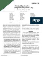 ACI 308.1 (98) Spec for Curing Conc