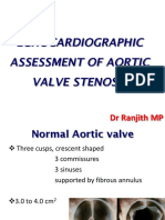 echocardiographic assessment of aortic valve stenosis dr ranjit
