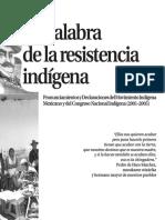 La palabra de la resistencia indígena CNI 2001 2005