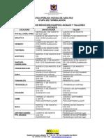 Cronograma Talleres Locales Ppsa-Actualizado