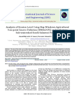 Analysis of Erosion Level Using Map Windows Agricultural