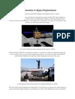 Achievements in Space Explorations