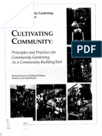 Cultivating Community Principles and Practices