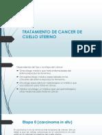 Tratamiento de Cancer de Cuello Uterino