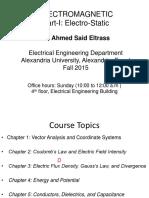 Lecture 1 Electrostatics