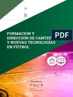 Máster en Formación y Dirección de Cantera y Nuevas Tecnologías en Fútbol