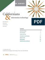 Californians Info Technology June 2009