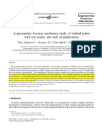 A Paramteric Fracture Mechanics Study of Welded Joints With Toe Cracks and Lack of Penetration
