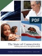 California Broadband Task Force Final Report Jan 2008