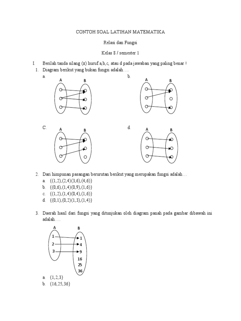 82 contoh soal latihan matematika relasi dan fungsi kelas 8 smp contoh soal latihan matematika relasi dan fungsi kelas 8 smp ccuart Choice Image