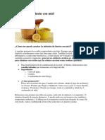Acido Urico Miel y Limon