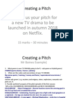 EXAMPLE Pitching a Programme